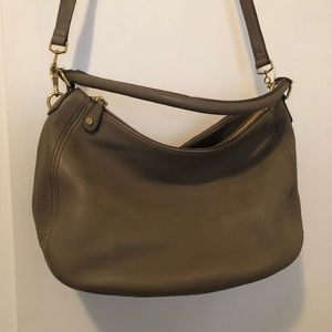 J Crew leather hobo bag
